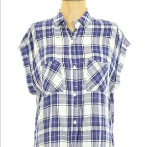 RAILS BRITT Short Sleeve Flannel Plaid Small